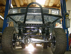 Straight Axle Conversion on a 94 Toyota Pickup Truck with Trail-Gear kit installed at Flex Point Off Road in Redding California
