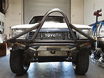 Trail-Gear Front Bumper installed onto a 92 Toyota Pickup Truck at Flex Point Off Road in Redding California