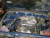 Toyota Tacoma 5VZ-FE Engine swap into a 2nt gen Toyota Pickup Truck done at Flex Point Off Road in Redding California