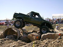1st Gen Toyota Pickup Rock Cralwer built at Flex Point Off Road in Redding California