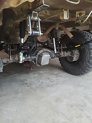 "Toyota Tacoma 2005 Super Duty axle installed with Lifted 63"" Chevy leaf Springs at Flex Point Off Road"