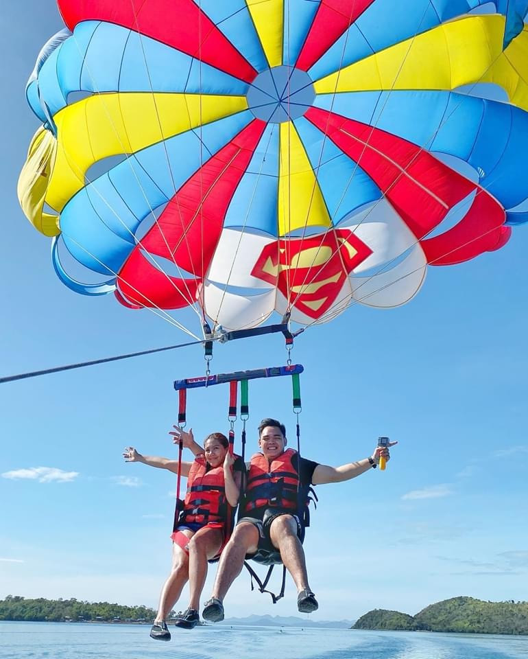 Parasailing at Royal Island Watersports