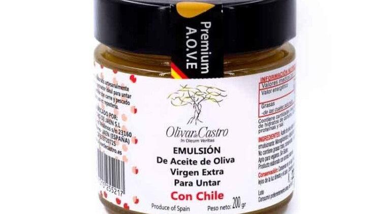 Natives Olivenöl Extra Emulsion mit Chili-Aroma