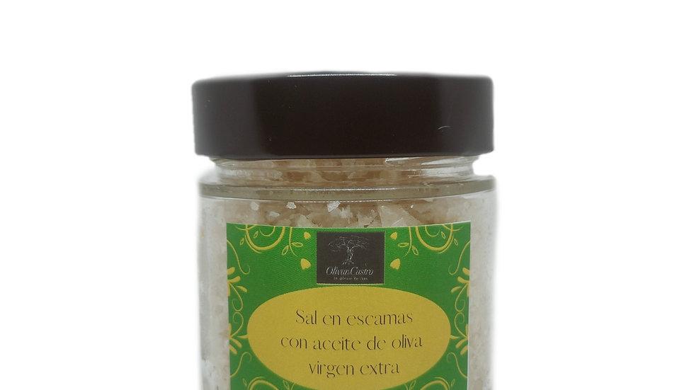 Escamas de sal con aceite de Oliva Virgen Extra