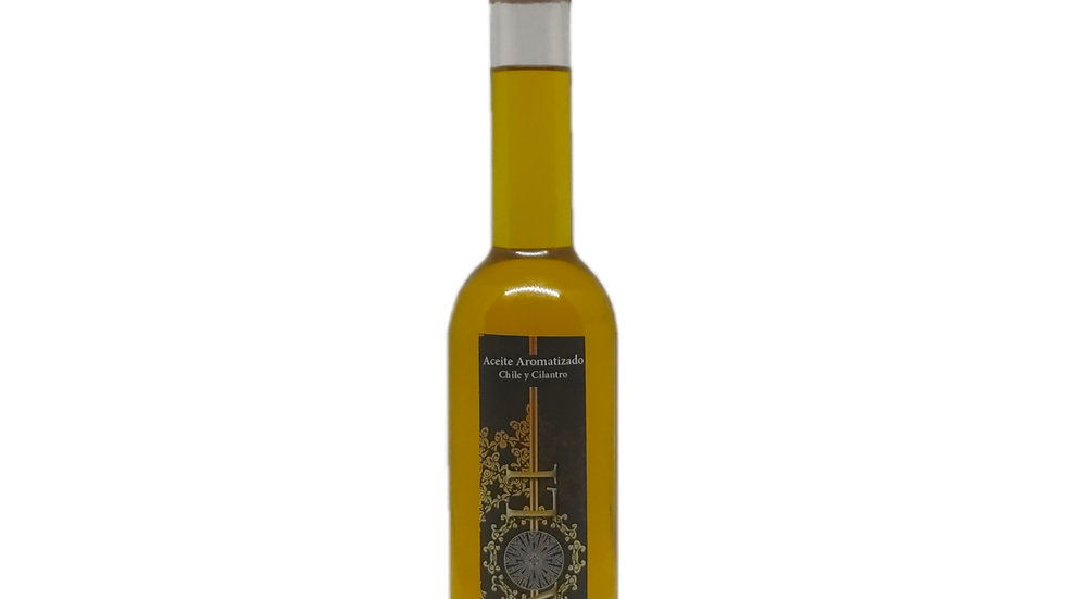 Natives Olivenöl Extra mit Chili und Koriander