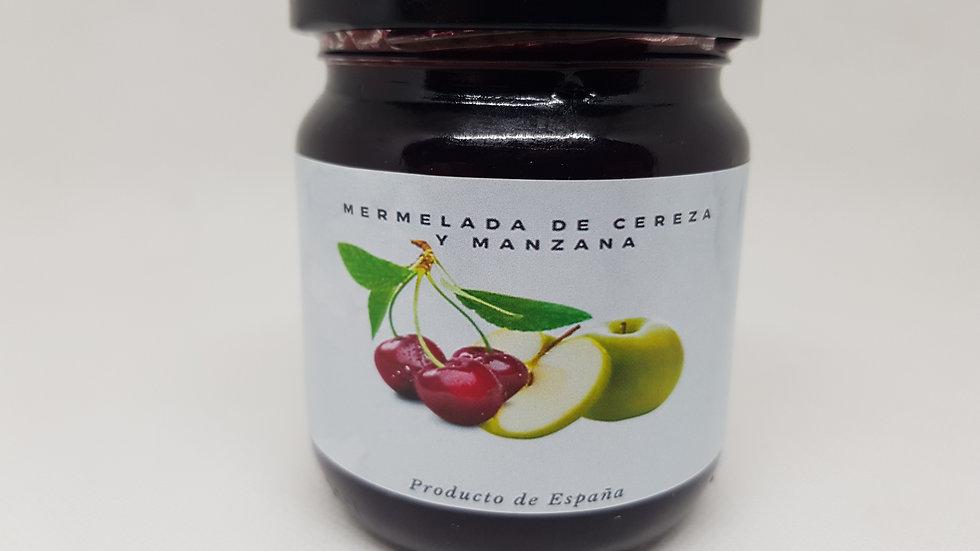 Mermelada de cereza ácida y manzana