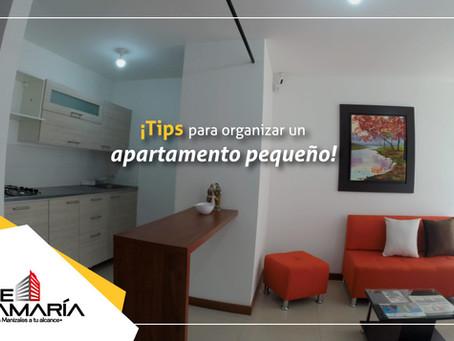 ¡Tips para organizar un apartamento pequeño!