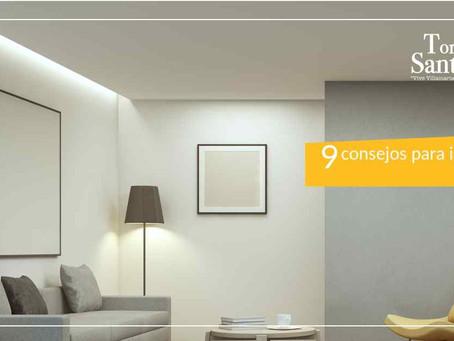 ¡9 consejos para iluminar tu hogar!