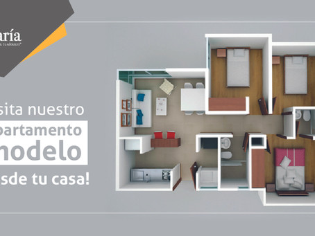 ¡Visita nuestro apartamento modelo sin salir de casa!