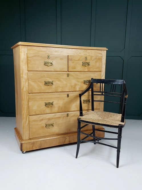 Large Satin Birch Chest of Drawers