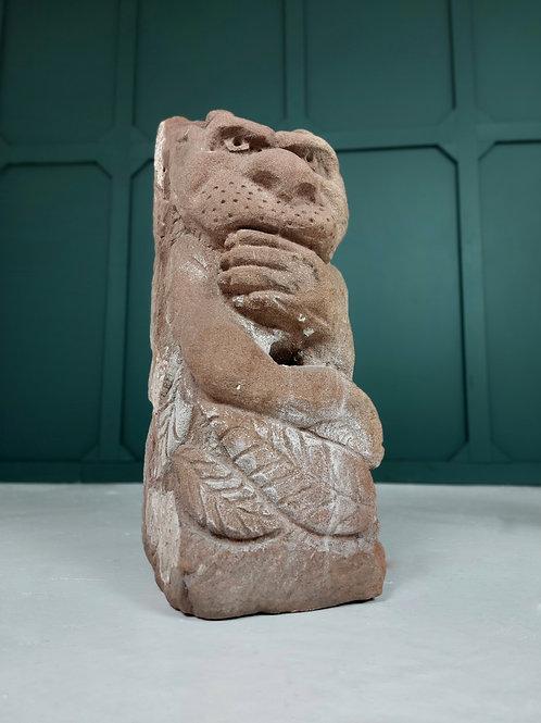 Carved Gothic Sandstone Gargoyle