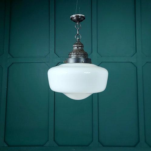 Large Opaline Pendant Light