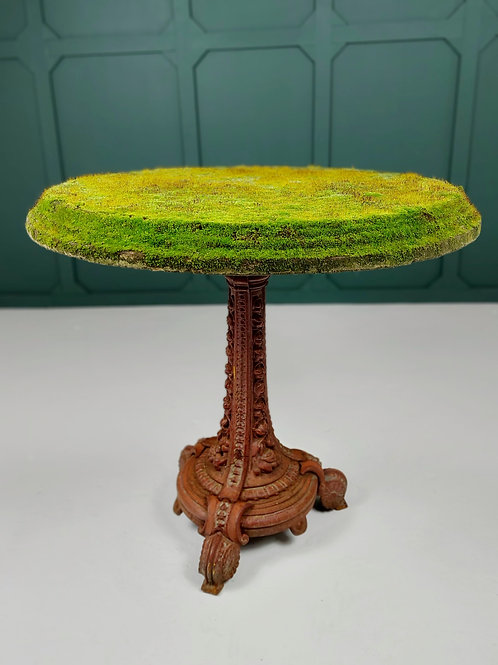 A Moss Covered 19th Century Stone Garden Table George Wright & Co