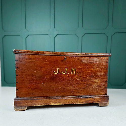 Early 20th C Travel Trunk 'J.J.H'