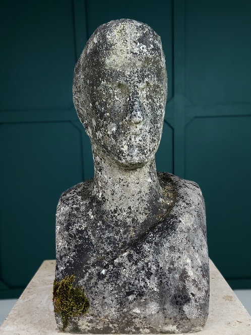 Full Size Weathered Marble Bust