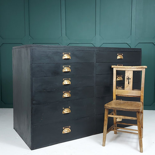 Large Industrial Bank of Drawers