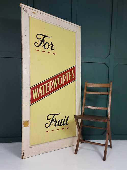 Large 1960's Grocers Advertising Window