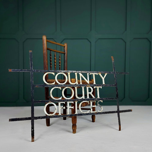 Bronze County Court Sign