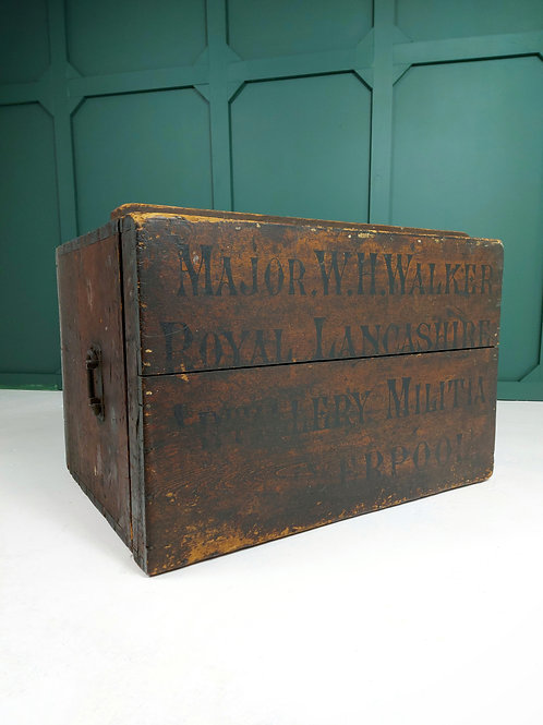 Military Campaign Chest for Major W Walker