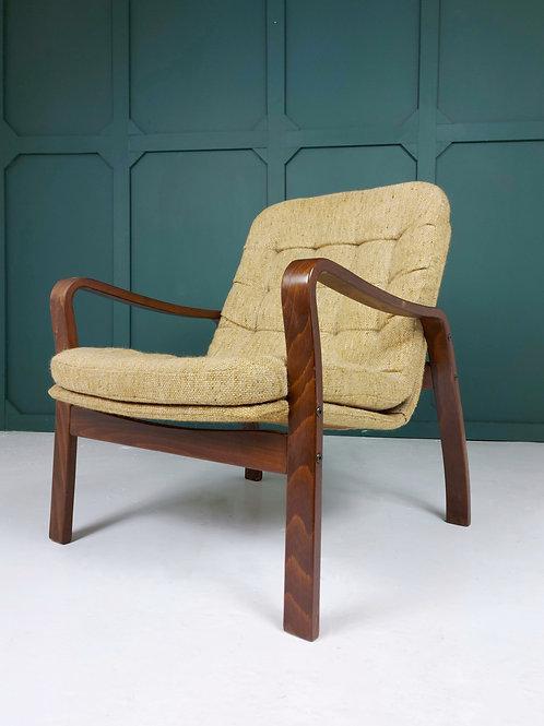 Modernist Bentwood Lounge Chair