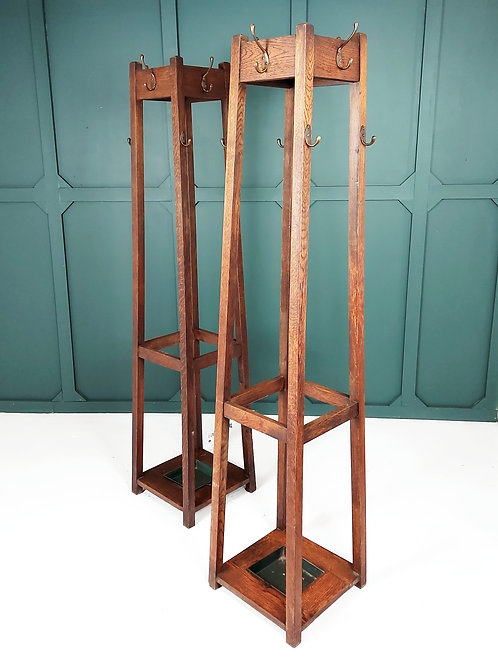 1920's Oak Hall Stands