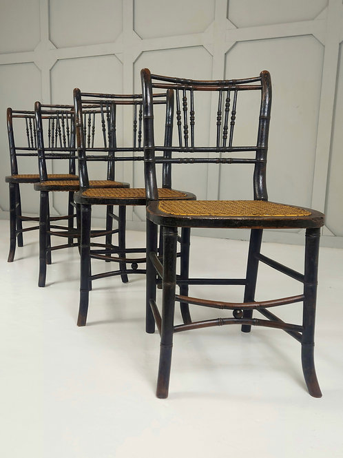 Regency Faux Bamboo Chairs
