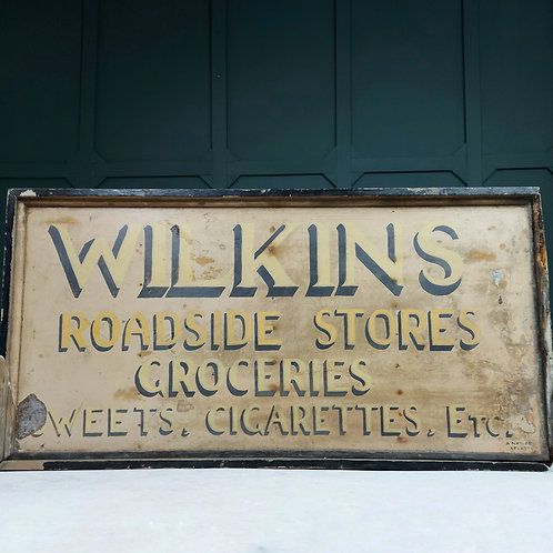 Large Hand Painted Grocers Sign