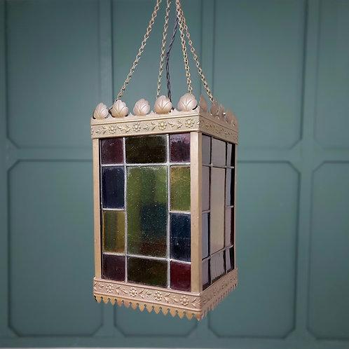 Leaded Glass Copper Hall Lantern