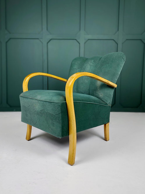 Art Deco Bentwood Lounge Chair