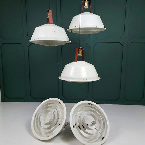 White Enamel Industrial Pendants