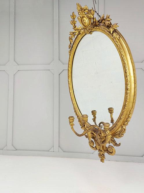 Gilt Regency Girandole Mirror