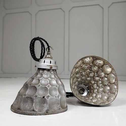 1930's Mercury Glass Pendant Light by Rayram