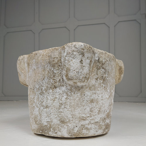 A Large Early Carverd  Stone Mortar