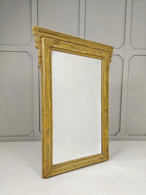 19th Century Dry Scraped Mirror