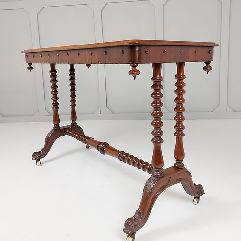 Bobbin turned console table