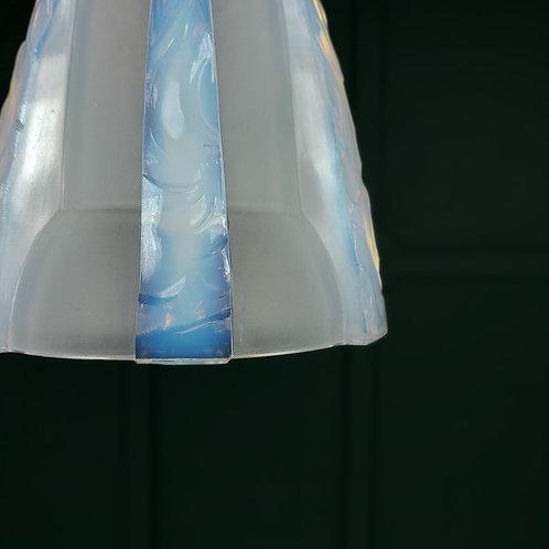 Art Deco Vaseline Glass Shade