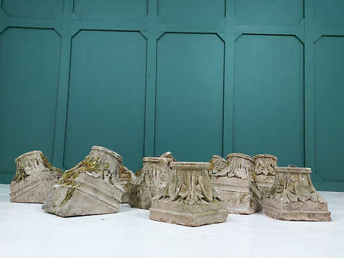 Weathered Carved Stone Capitals