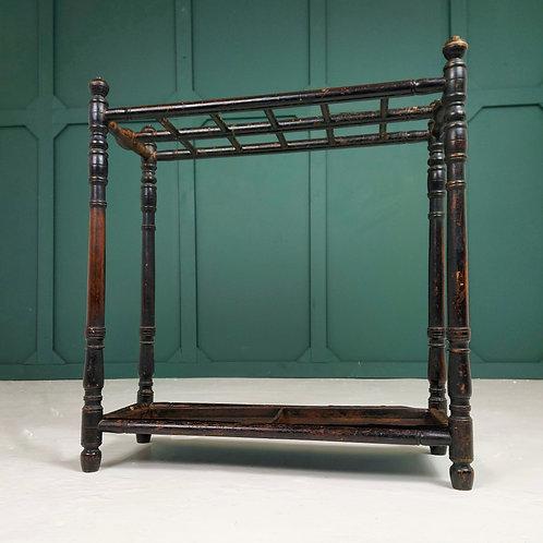 Ebonised 19th Century Stick Stand
