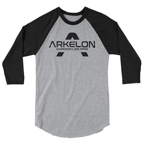 Arkelon Logo 3/4 sleeve raglan shirt