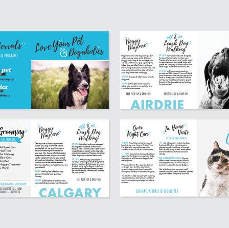 Love Your Pet Brochure Design