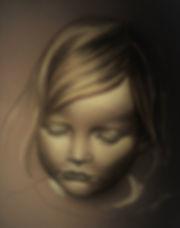 Retrato niña pastel bebe