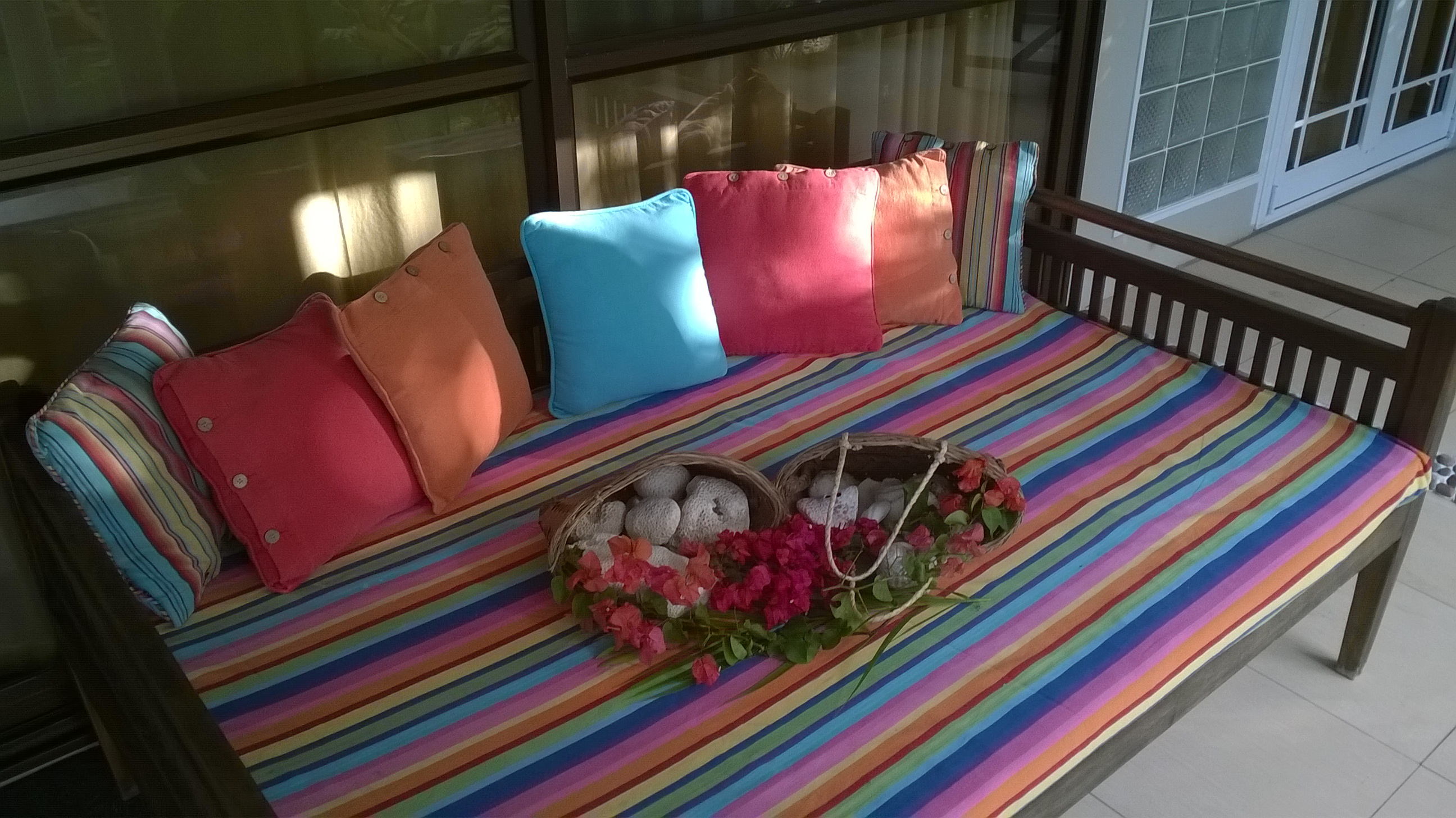Daybed on the verandah