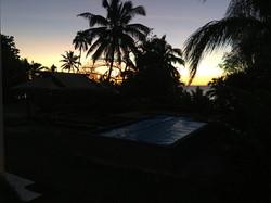 Sunset at Onu Bay Holiday House