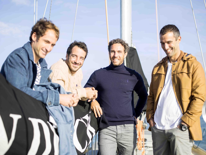 Louis Burton, Tanguy de Lamotte, Armel Le Cléac'h et Morgan Lagravière, Lorient, 2016