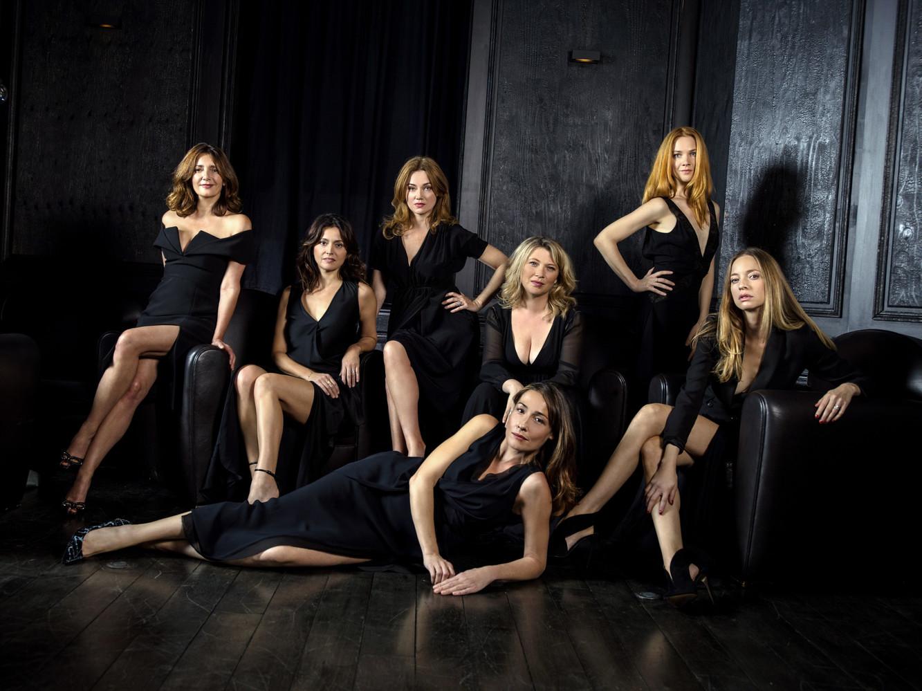 Valérie Karsenti, Anne Charrier, Marine Delterme, Annelise Hesme (allongée), Cécile Bois, Odile Vuillemin, Elodie Frenck, Paris, 2016