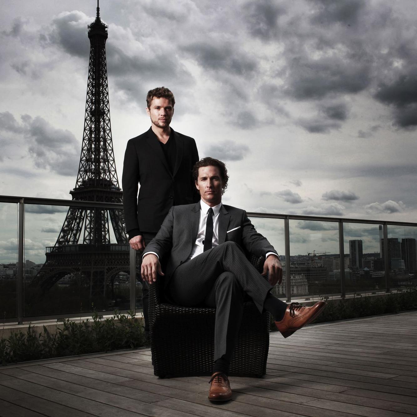 Matthew McConaughey et Ryan Phillippe, Paris, 2011
