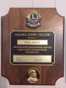 Lions 'Melvin Jones Fellow' Award