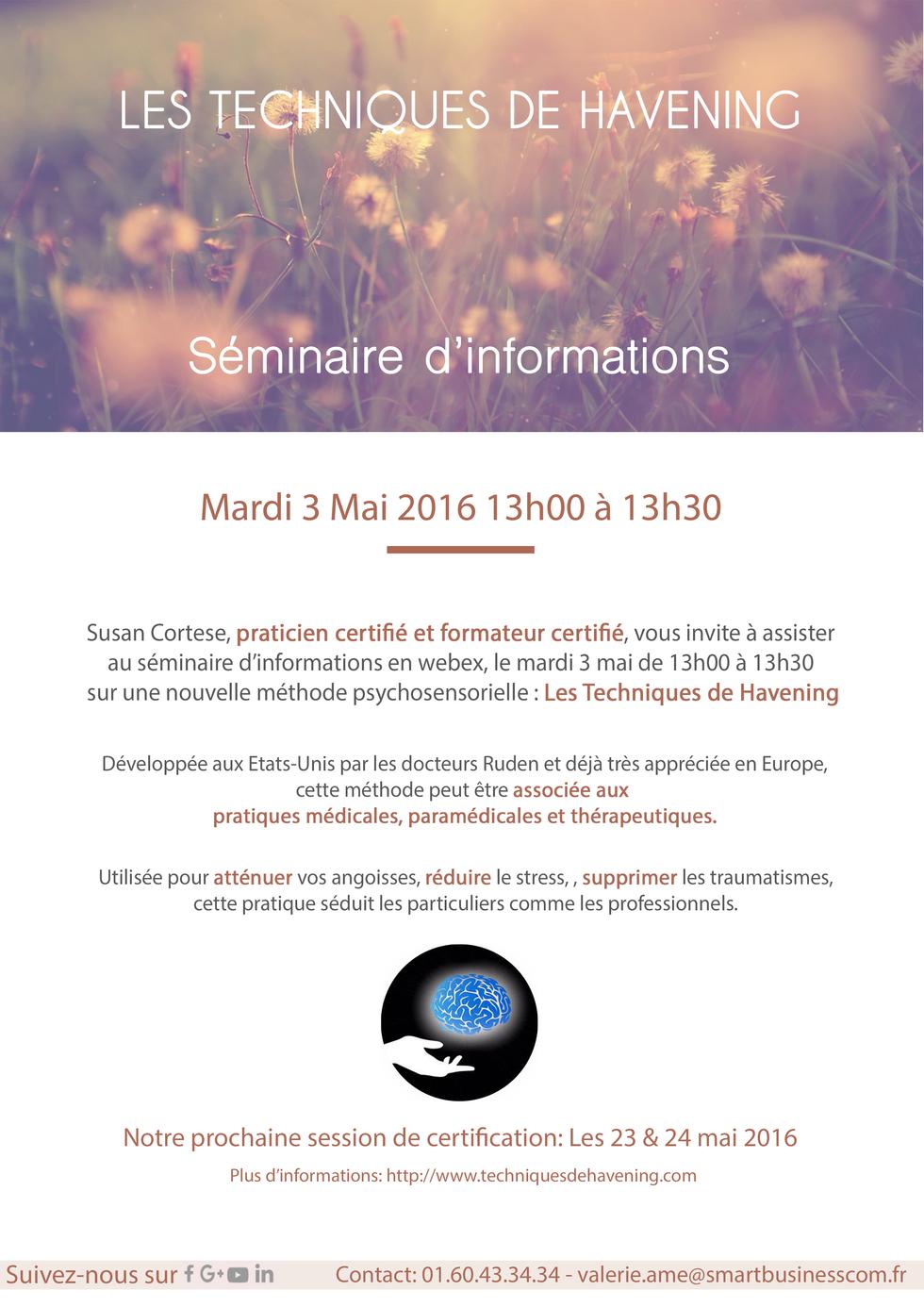 Une nouvelle Méthode Thérapeutique: Rendez le Mardi 3 Mai!
