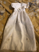 picture of a burial gown made from a wedding dress