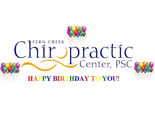 Massage Birthday Gift Certificate